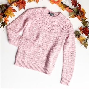 Lauren Ralph Lauren Alpaca/Wool Knit Pink Sweater